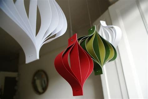 paper christmas decorations large red white and green hanging