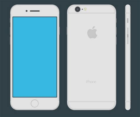 template of iphone 6 iphone 6 flat vector template