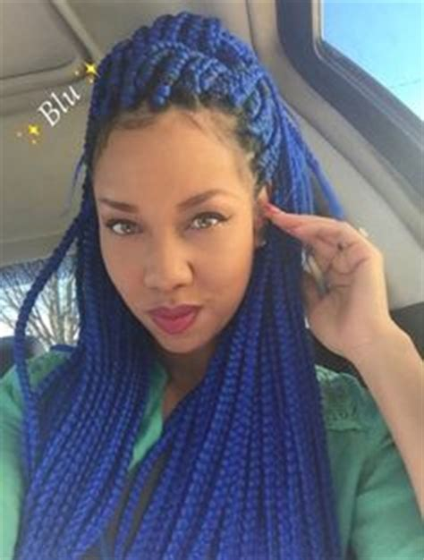 box braids in a bob with blue hair com composed collected may 2016