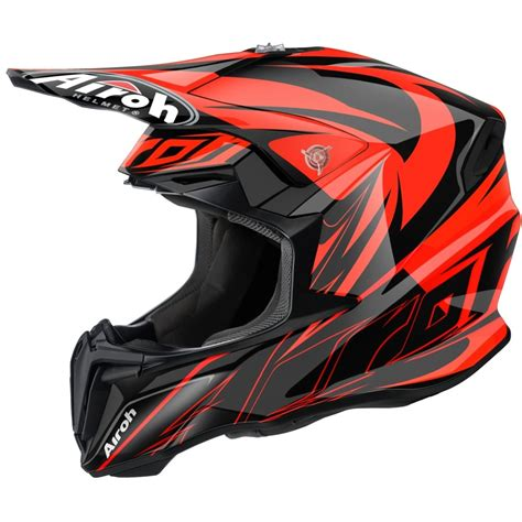 orange motocross helmet airoh twist motocross helmet evil orange motorcycle