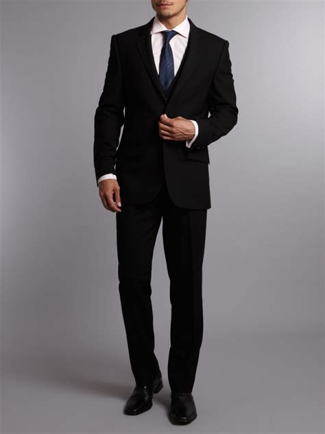 Three Suit Kenneth Cole Ultra Black Three Suit Waistcoat In