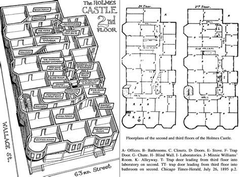 Hidden Passageways Floor Plan the h h holmes murder castle frightfind