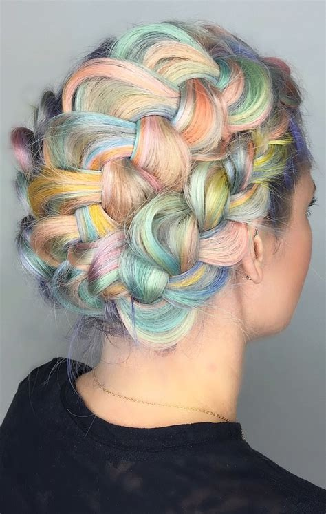 rainbow hair color rainbow hair colors for holidays 2016 hairstyles 2017