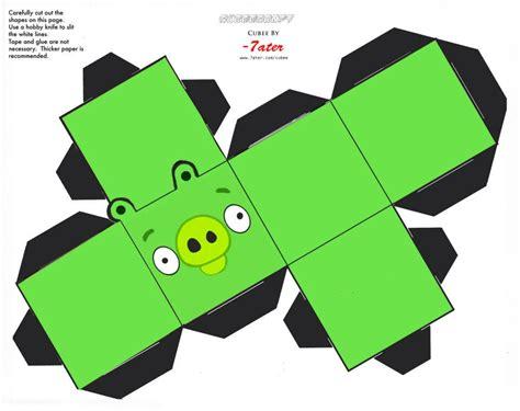 Angry Birds Papercraft - angry birds cubeecraft