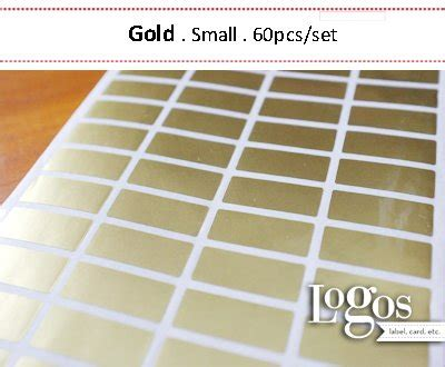 Polos Gold Sticker Label Nama Waterproof M 60 Pcs L 36 Pcsset jual sticker label nama gold small stiker waterproof produk shop di lapak logos label