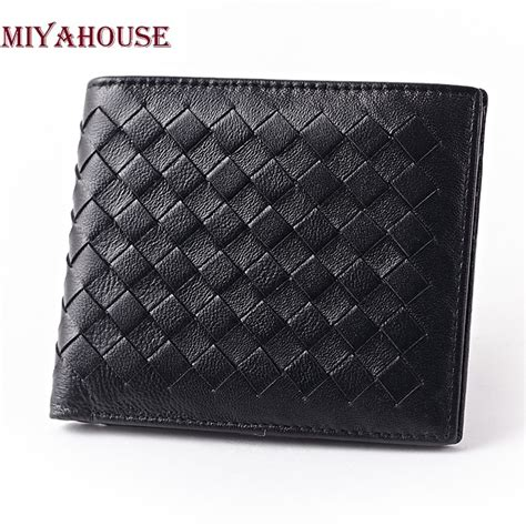 New Arrival Clutch Fashion H011 new arrival brand weave wallets fashion clutch wallet genuine leather purses