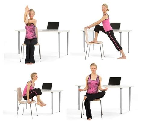 exercise equipment for your desk 8 poses for yoga at your desk popsugar fitness