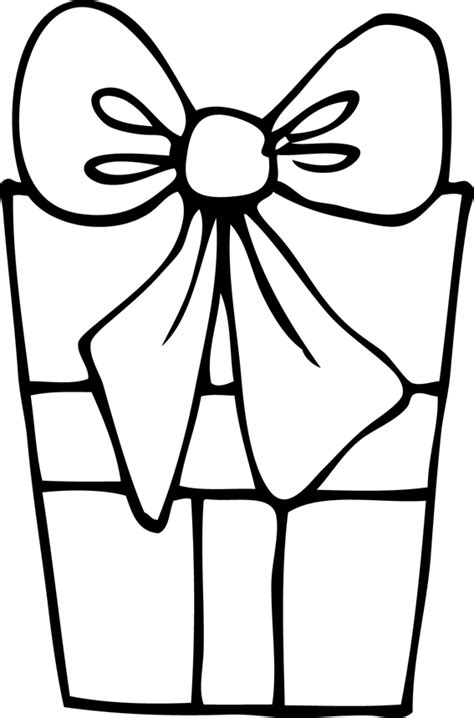 coloring page of gift box free color gift box coloring pages