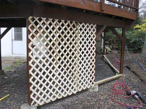 Deck Lattice Install 187 Design And Ideas