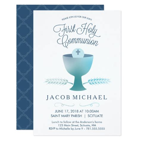 Communion Cards For Boys holy communion invitation boy s small invite