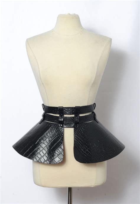 faux crocodile leather to make peplum belt