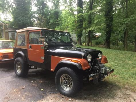orange jeep cj 1986 black orange jeep cj7