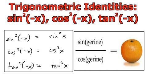 calculator x squared trigonometric identities sin 2 x cos 2 x tan 2 x