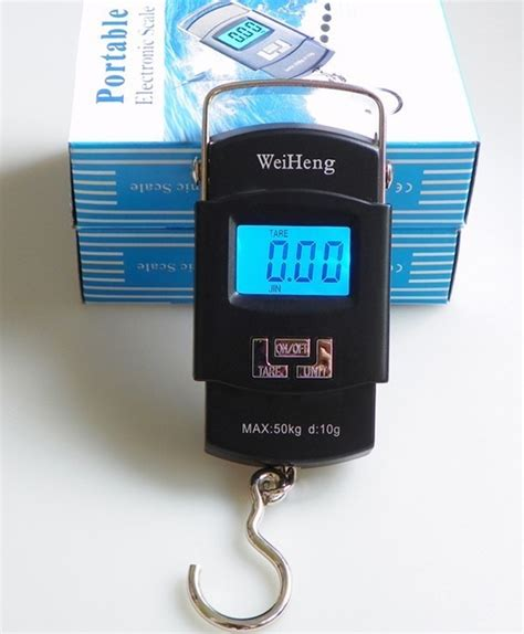 Weiheng Portable Electronic Scale With Backlight Hitam weiheng portable l age scale wh a08