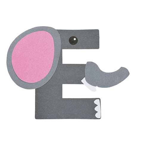Home Decor Elephants by E Is For Elephant Letter E Craft Kit Oriental Trading