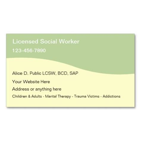 social worker business cards templates 1000 images about social worker business cards on