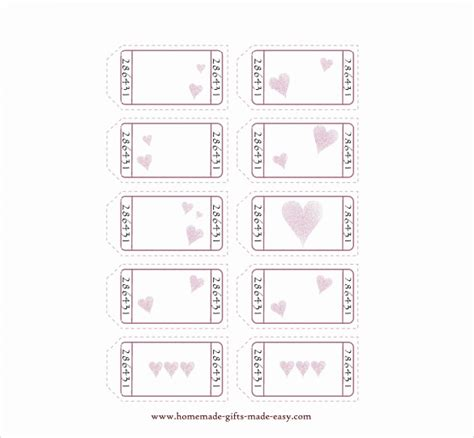 blank printable love coupon templates pictures to pin on
