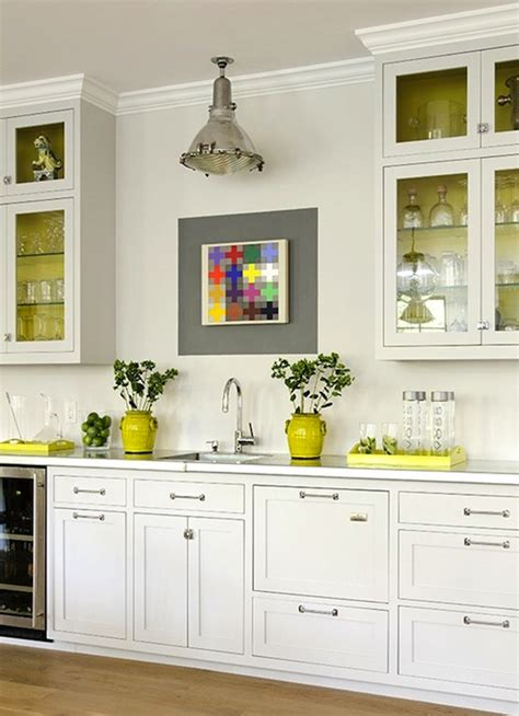 Accent Kitchen Cabinets White Kitchen Accents Kitchen And Decor