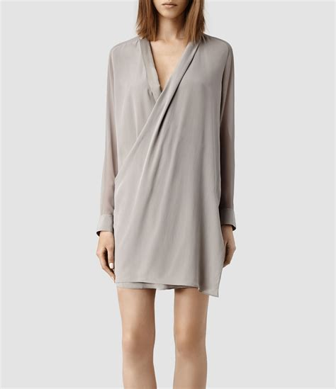 All Saints Tornquist Dresses by Allsaints Lucas Shirt Dress In Gray Lyst