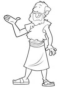 prophet elijah coloring pages drawing sketch template - Elijah Prophet Coloring Pages