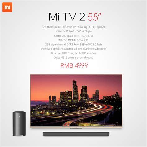 Xiaomi Tv 2 xiaomi unveils the mi smart scale mi power pink edition mi note and mi tv 2