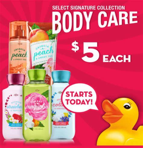 Bath And Body Works Gift Card Balance Canada - bath body works canada semi annual sale signature body care 5 each 75 off