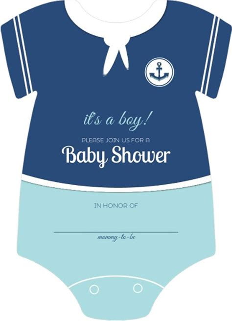 baby onesie template for baby shower invitations sailor onesie boys nautical themed fill in blank baby