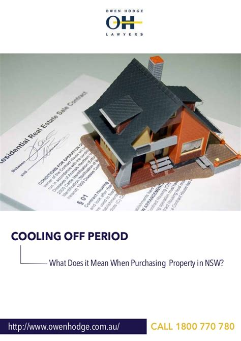 is there a cooling off period when buying a house cooling off period what does it mean when purchasing