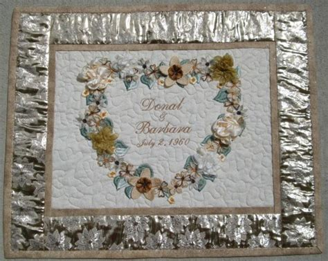 CUSTOM GOLDEN 5OTH WEDDING ANNIVERSARY WALL HANGING