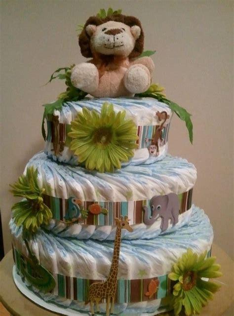 1 jungle theme mini diaper cake baby shower by jungle theme diaper cake for baby shower baby shower