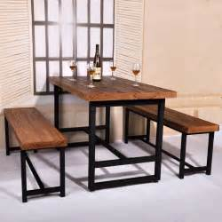 american country wood dining table domestic iron cafe