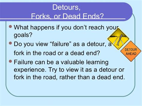 Learning Disabilities Are A Detour Not A Roadblock by How To Set And Achieve Goals