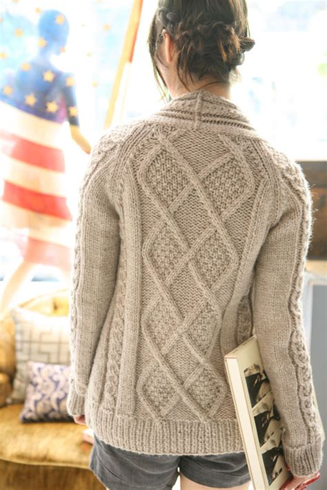 free knitting pattern cardigan sweater free aran patterns knitting bee