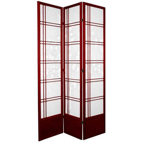7ft room divider 7 ft rosewood 3 panel room divider 84dxbt rwd the home depot