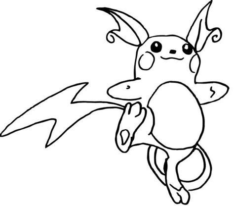 pokemon coloring pages raichu raichu pokemon coloring sheets images pokemon images
