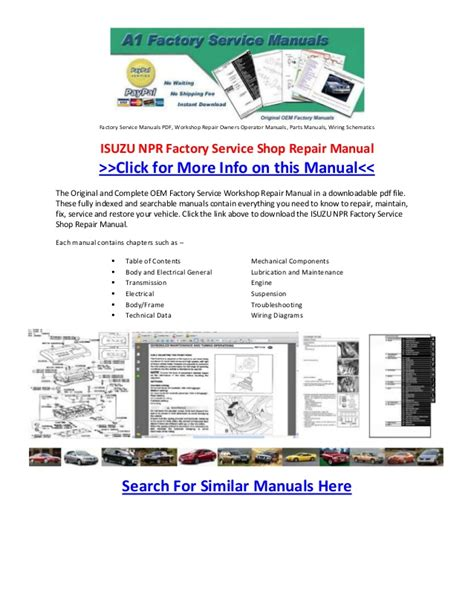 how to download repair manuals 2007 isuzu i series parental controls isuzu npr factory service shop repair manual