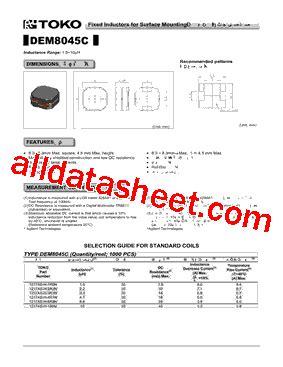 toko inductor datasheet 1217as h 4r7n datasheet pdf toko inc