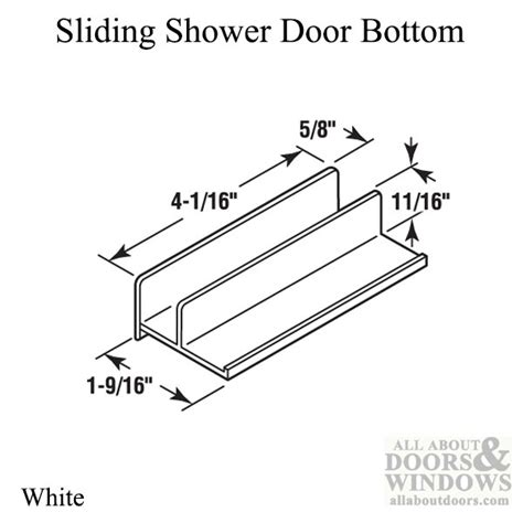 Sliding Shower Door Guide Doors Guide Guide 9 16 Opening International Sliding Shower Door Bottom Quot Quot Sc Quot 1 Quot St