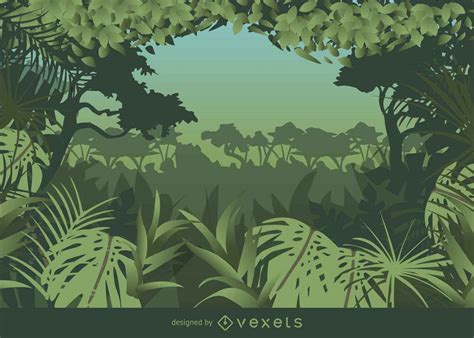 jungle pattern vector tropical frame styled jungle background vector download