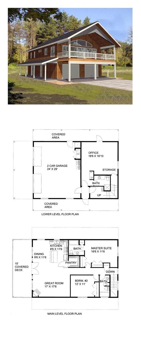Garage Apartment Plans Free by Two Car Garage With Apartment Plan Unique House Home Plans