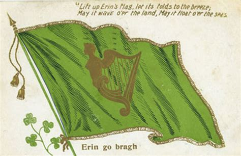 green flag with harp the irish tricolour flag and its