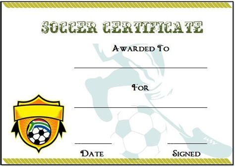 Free soccer certificate templates soccer award certificate 30 soccer award certificate templates free to download yelopaper Choice Image