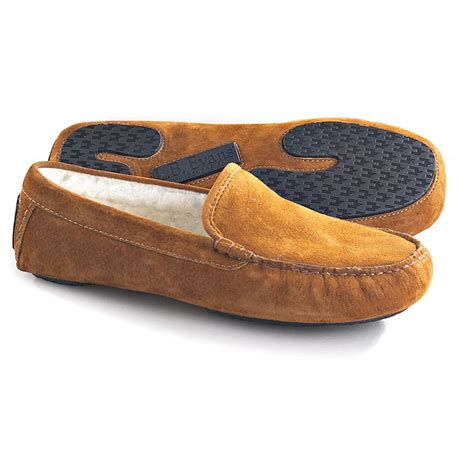 lb slippers sale l b 174 coleman shearling slippers tobacco 114949