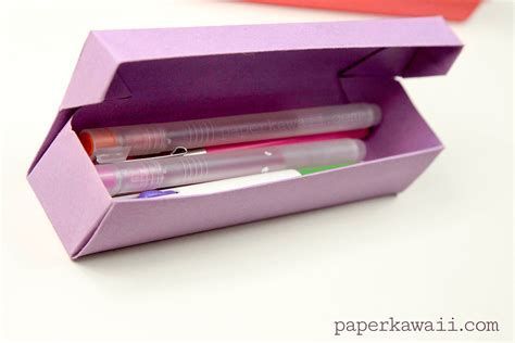 How To Make A Paper Pencil - origami pencil box tutorial paper kawaii