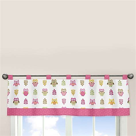 owl shower curtain bed bath and beyond sweet jojo designs happy owl window valance in pink bed