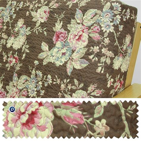 Floral Futon Cover by Quilted Floral Chocolate Futon Cover