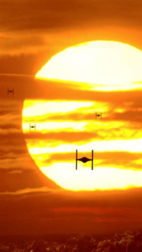 wallpaper for iphone 5 star wars tie fighter sunset iphone 5 wallpaper 640x1136