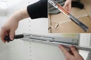 rail et amortisseur de tiroir monter une cuisine en kit