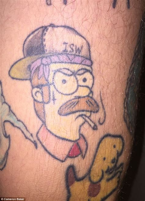 tattoo simpsons instagram queensland s man runs simpsons instagram page for people