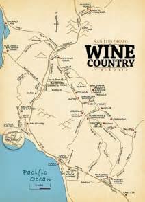 slo wine country san luis obispo wine tasting map